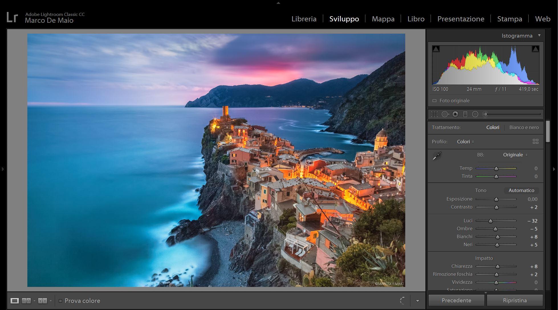 Corso Post Produzione Adobe Lightroom